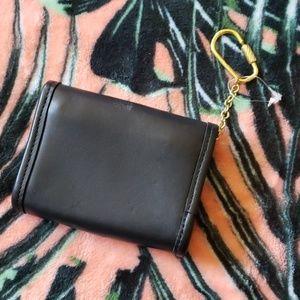 Coach Bags - COACH Vintage Black Keychain Wallet